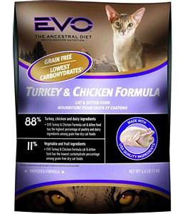 Buy food & drink gift baskets gourmet - EVO Turkey & Chicken Formula Dry Cat Food (6.6 lb)